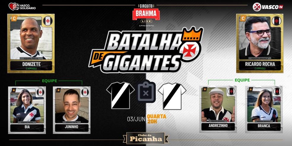 Batalha de Gigantes terá transmissão pela Vasco TV — Foto: Divulgação