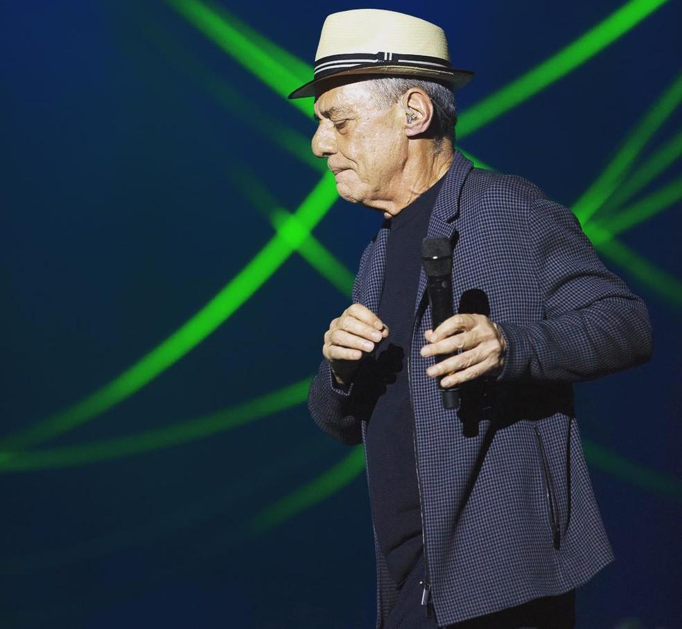 -  Chico Buarque no show   39;Caravanas  39;  Foto: Divulgação / Leo Aversa