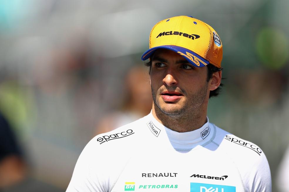 A Ferrari aposta em Carlos Sainz para 2021 — Foto: Getty Images