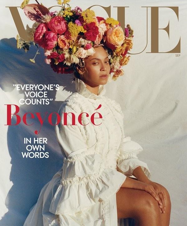 Beyoncé na capa da revista Vogue (Foto: reprodução)