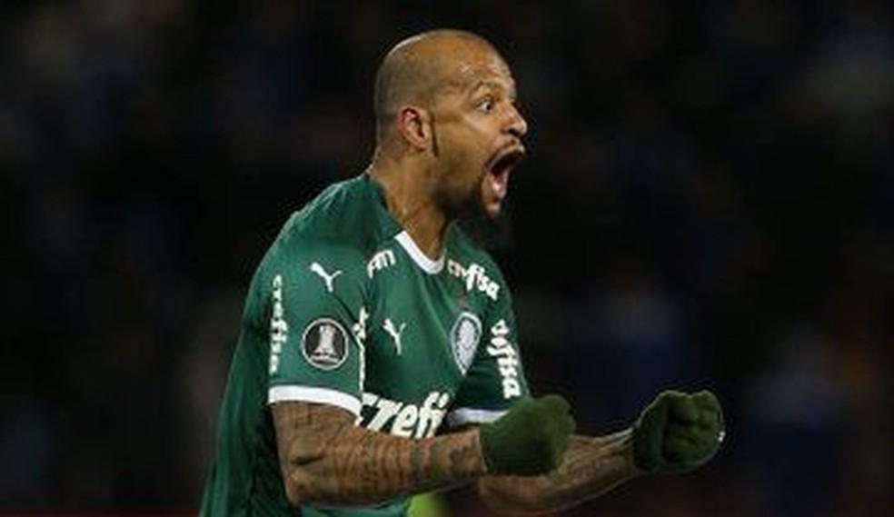 Felipe Melo diz que jogadores estão fazendo autocrítica — Foto: Cesar Greco/Palmeiras