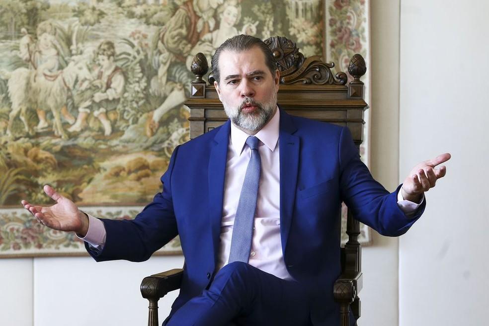 O ministro Dias Toffoli, presidente do Supremo Tribunal Federal — Foto: Marcelo Camargo  / Agência Brasil