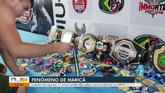 Jovem lutador de Maricá ainda não sabe o que é derrota no MMA
