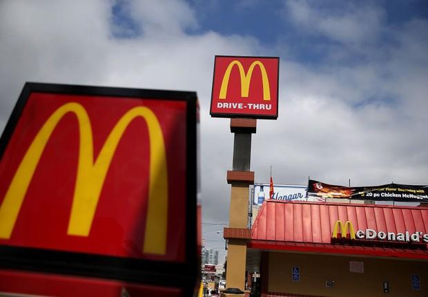 Lanchonete da rede McDonald's ; fast food ; consumo ; alimentação ;  (Foto: Justin Sullivan/Getty Images)