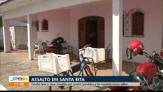 Família tem casa invadida por quatro bandidos e é mantida refém em Santa Rita