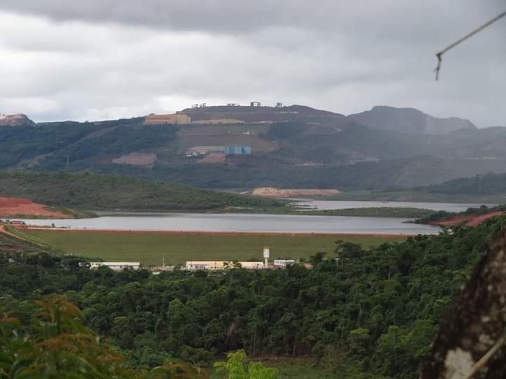 Barragem de rejeitos da Mina do Sapo, do projeto Minas-Rio, da Anglo American em Conceição do Mato Dentro — Foto: Arquivo Pessoal