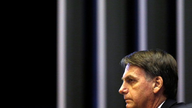 Jair Bolsonaro, presidente eleito na Câmara (Foto: Reuters/Adriano Machado)