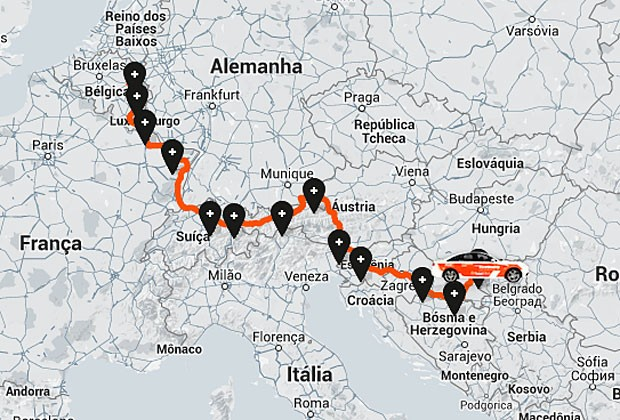Carro saiu da Holanda e parou só na Hungria com 1 tanque (Foto: Reprodução)