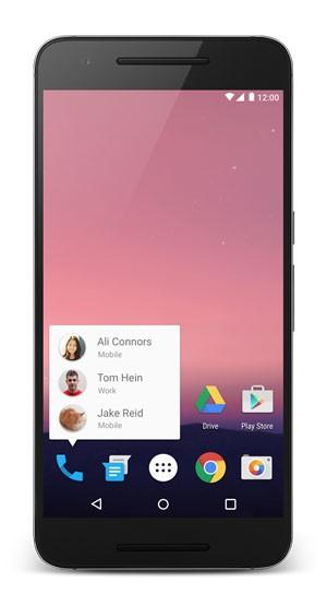 Android N terá atalhos na tela inicial que levam para dentro de aplicativos. (Foto: Divulgação/Google)