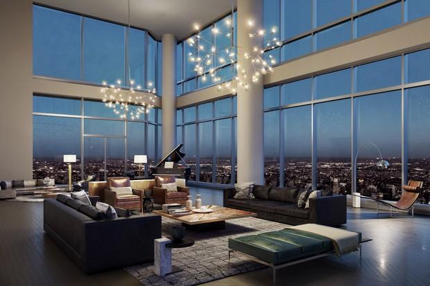 Prédio residencial mais alto do mundo tem mais de 470 metros (Foto: Divulgação)