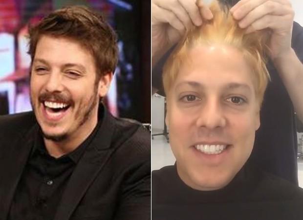 Fábio Porchat: antes e depois (Foto: Reprodução/Instagram)