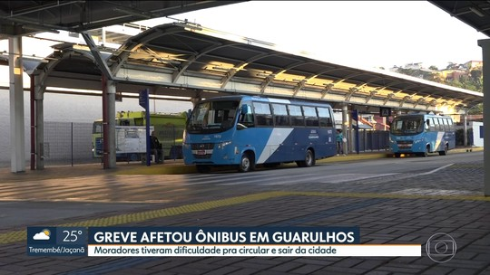 Greve afeta ônibus em Guarulhos