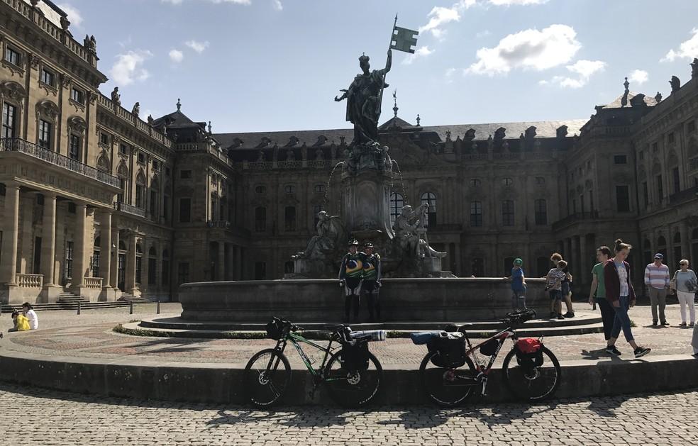 Palácio Residenz, Würzburg, na Alemanha (Foto: Arquivo pessoal)