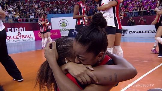 Pontos finais de Osasco 2 x 3 São Paulo-Barueri pela final do Campeonato Paulista de vôlei feminino
