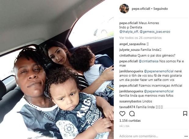 Pepê respondendo comentário de seguidora (Foto: Reprodução/Instagram)