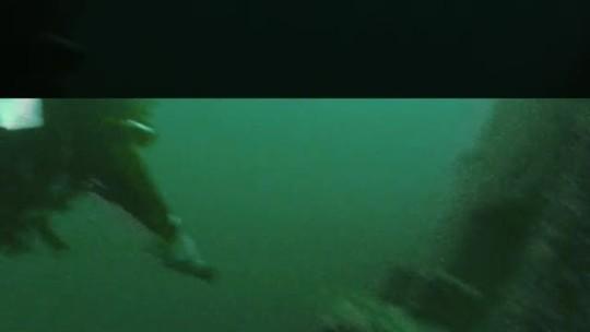 Mergulhadores encontram prédio da  antiga Usina Hidrelétrica de Itaparica, submersa há 31 anos no rio São Francisco