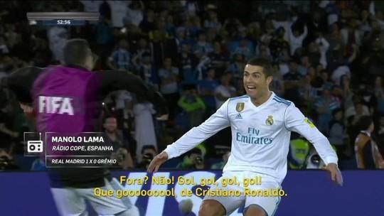 """""""Redação AM"""": Manolo Lama narra gol de Cristiano Ronaldo na final do Mundial"""
