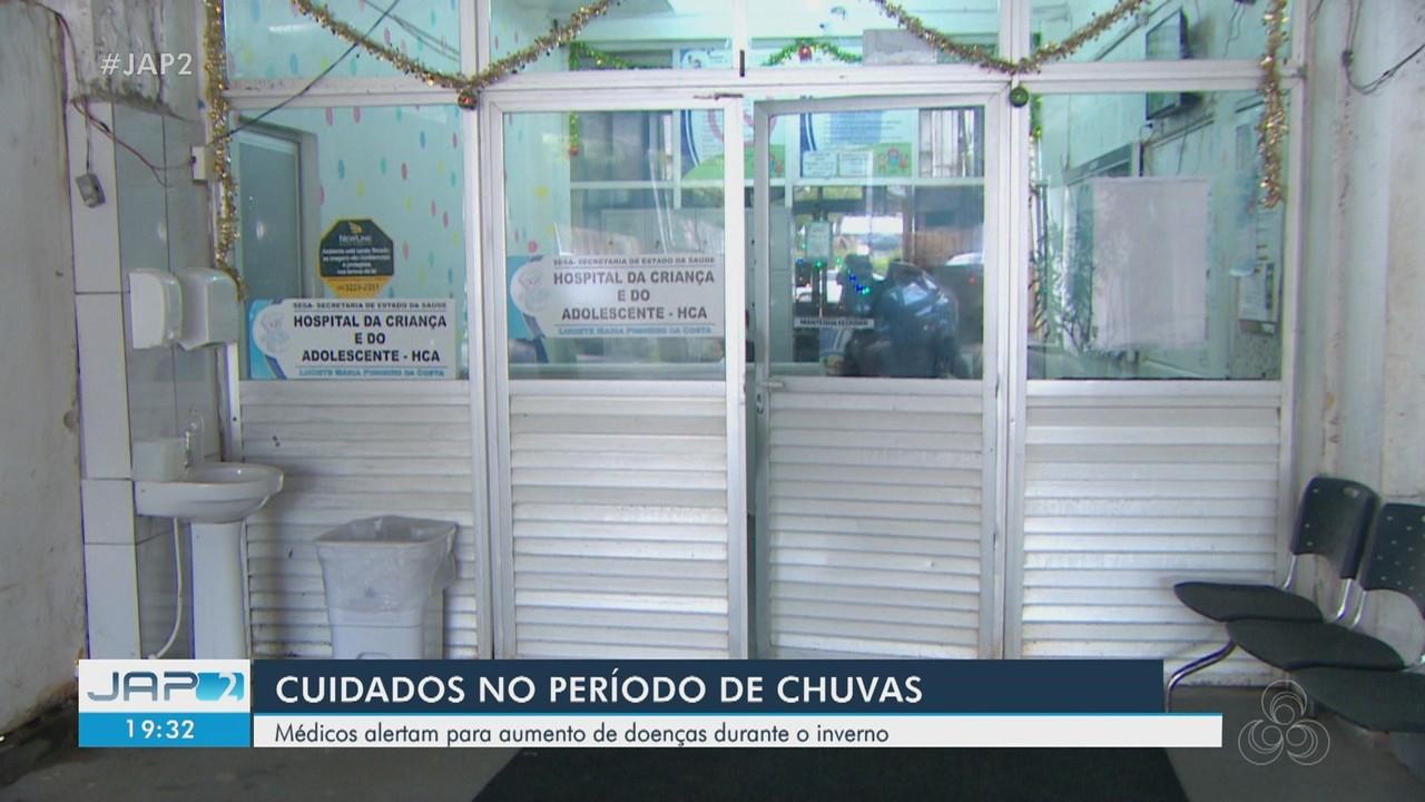 Médicos alertam para aumento de doenças em crianças no período chuvoso no AP