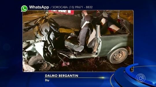 Quatro pessoas ficam feridas em acidente na estrada que liga Salto a Itu