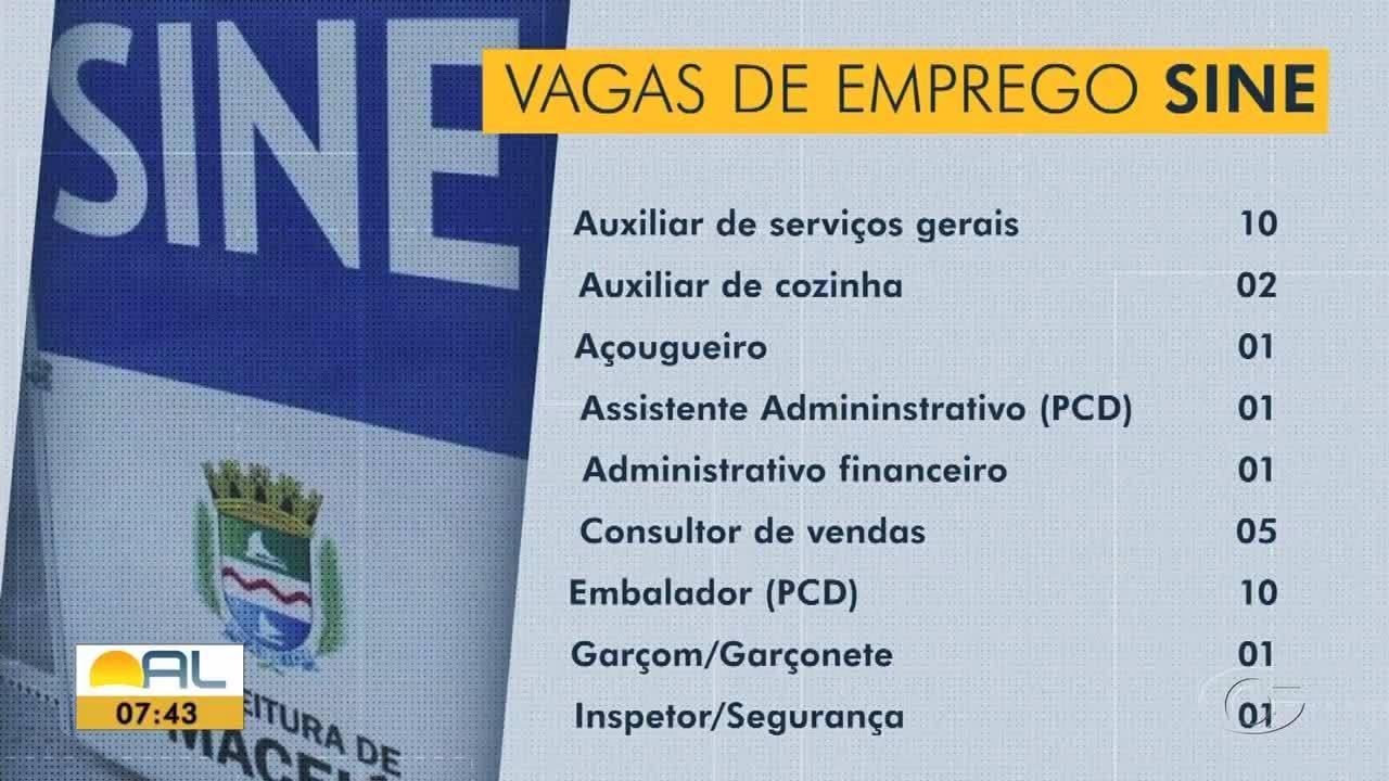 Confira as vagas de emprego e de estágios disponíveis em Maceió.