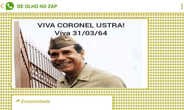 Carlos Alberto Brilhante Ustra, condenado por tortura e sequestro, já foi elogiado em diversas ocasiões pelo presidente Jair Bolsonaro e o vice, Hamilton Mourão