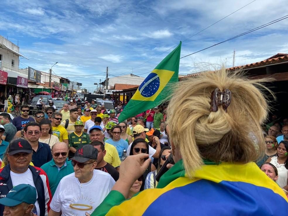 Manifestação em Parnaíba  — Foto: Fábio Barros/Arquivo pessoal
