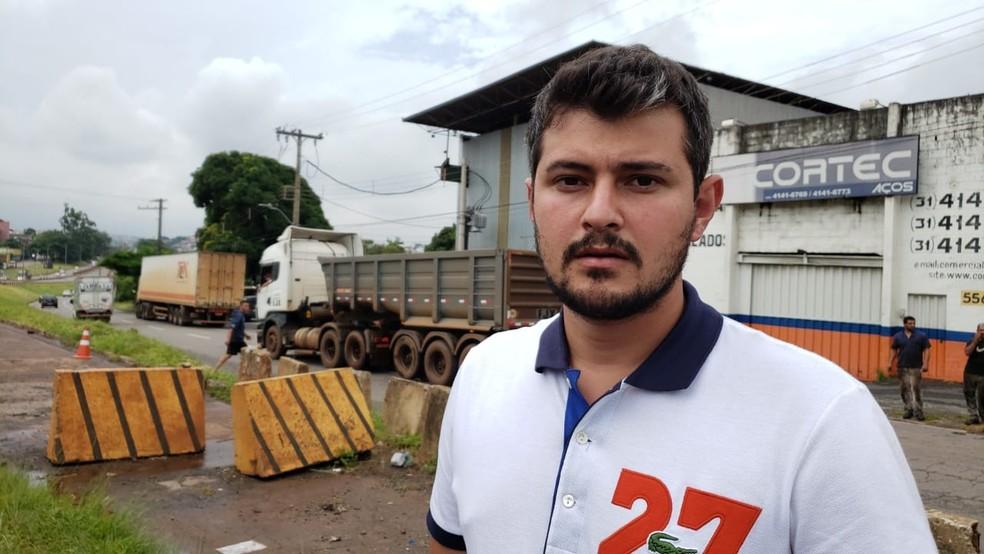 Thiago Namem estava em um dos carros envolvidos no acidente no Anel Rodoviário. — Foto: Danilo Girundi/ TV Globo