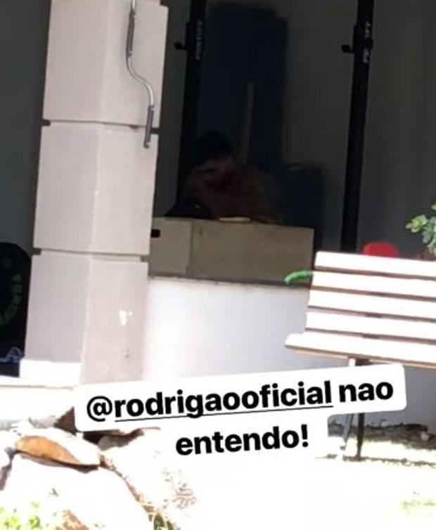 Adriana Sant'Anna mostrando Rodrigão malhando (Foto: Reprodução/Instagram)