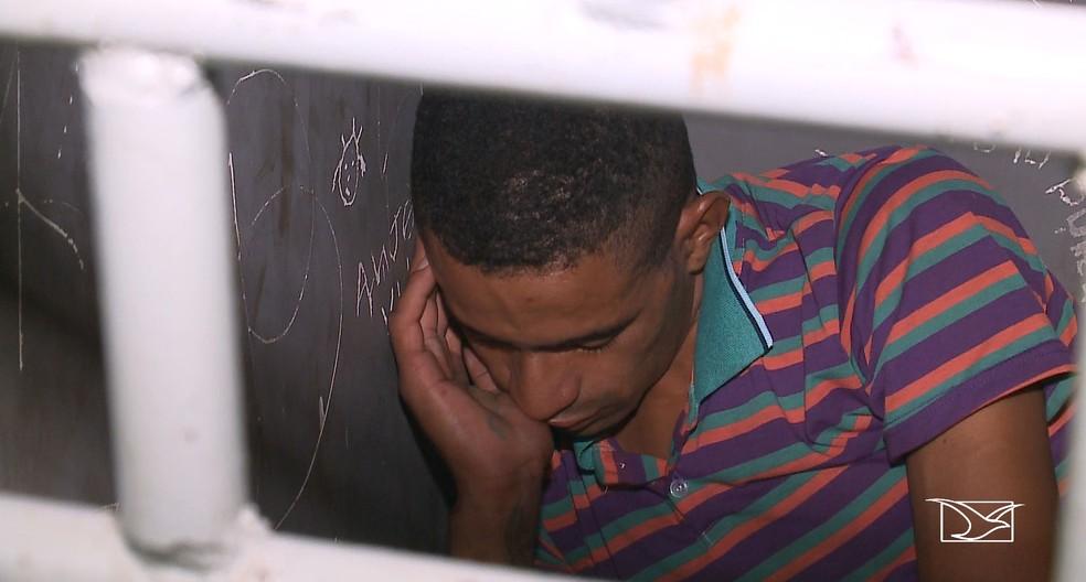 Diego Silva Oliveira foi preso após ter arrombado uma clínica odontológica em São Luís (MA) — Foto: Reprodução/TV Mirante