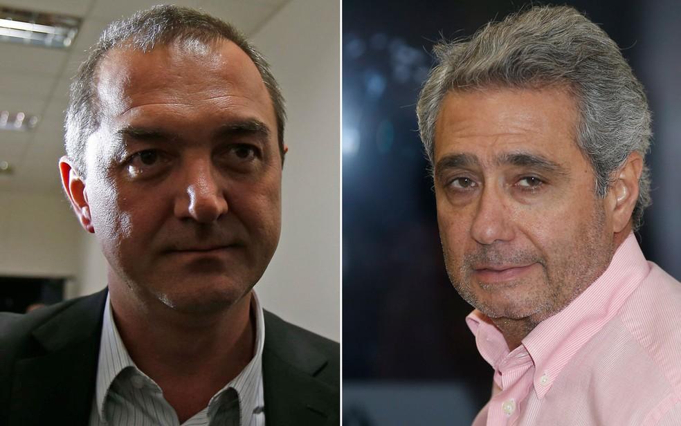 Montagem mostra o empresário Joesley Batista (esq.) e o ex-executivo da J&F Ricardo Saud (dir.) (Foto: Dida Sampaio/Estadão Conteúdo)