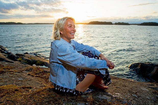 Kristina Roth, a proprietária da ilha (Foto: Micaela Werneck)