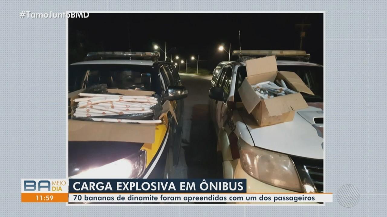 Operação apreende carga de explosivos na BR-242, região oeste da Bahia