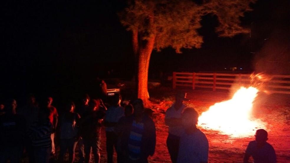 MSL invadiu a propriedade rural na noite desta quarta-feira (6) (Foto: Movimento Social de Luta Campo e Cidade/Cedida)