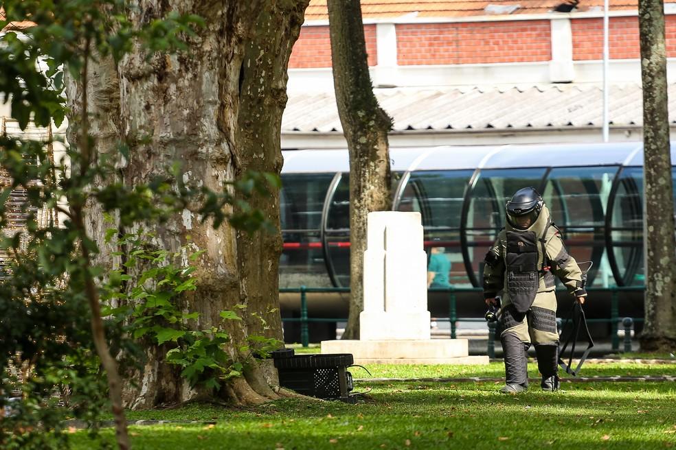 Caso ocorreu na Praça Eufrásio Correia no início da tarde desta terça-feira (10) — Foto: Rodrigo Fonseca