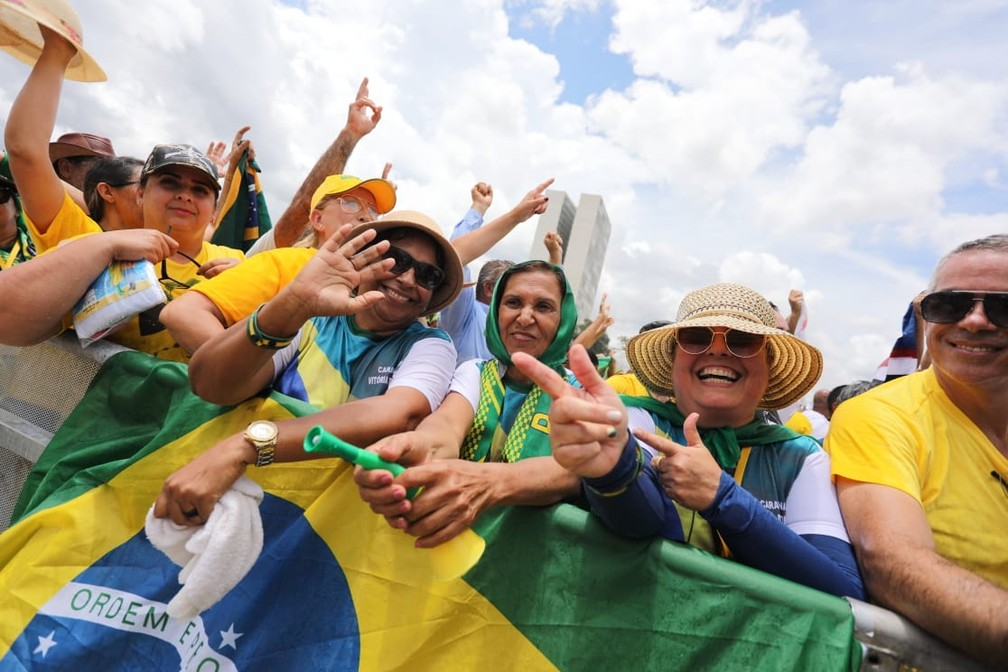 Público chega para posse de Bolsonaro, em Brasília — Foto: Fábio Tito/G1