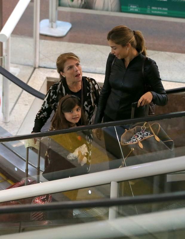 Grazi Massafera, Sofia e Márcia Marbá (Foto: André Freitas/AgNews)