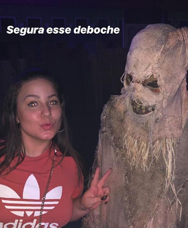 Ex-BBB Maria Cláudia passa Halloween em parque temático nos EUA (Foto: Reprodução/Instagram)