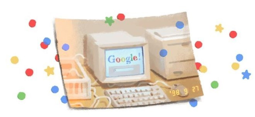 Larry Page e Sergey Brin criaram o Google como um projeto de pesquisa na Universidade Stanford, na Califórnia, e o lançaram como empresa em 1998 — Foto: Reprodução Google
