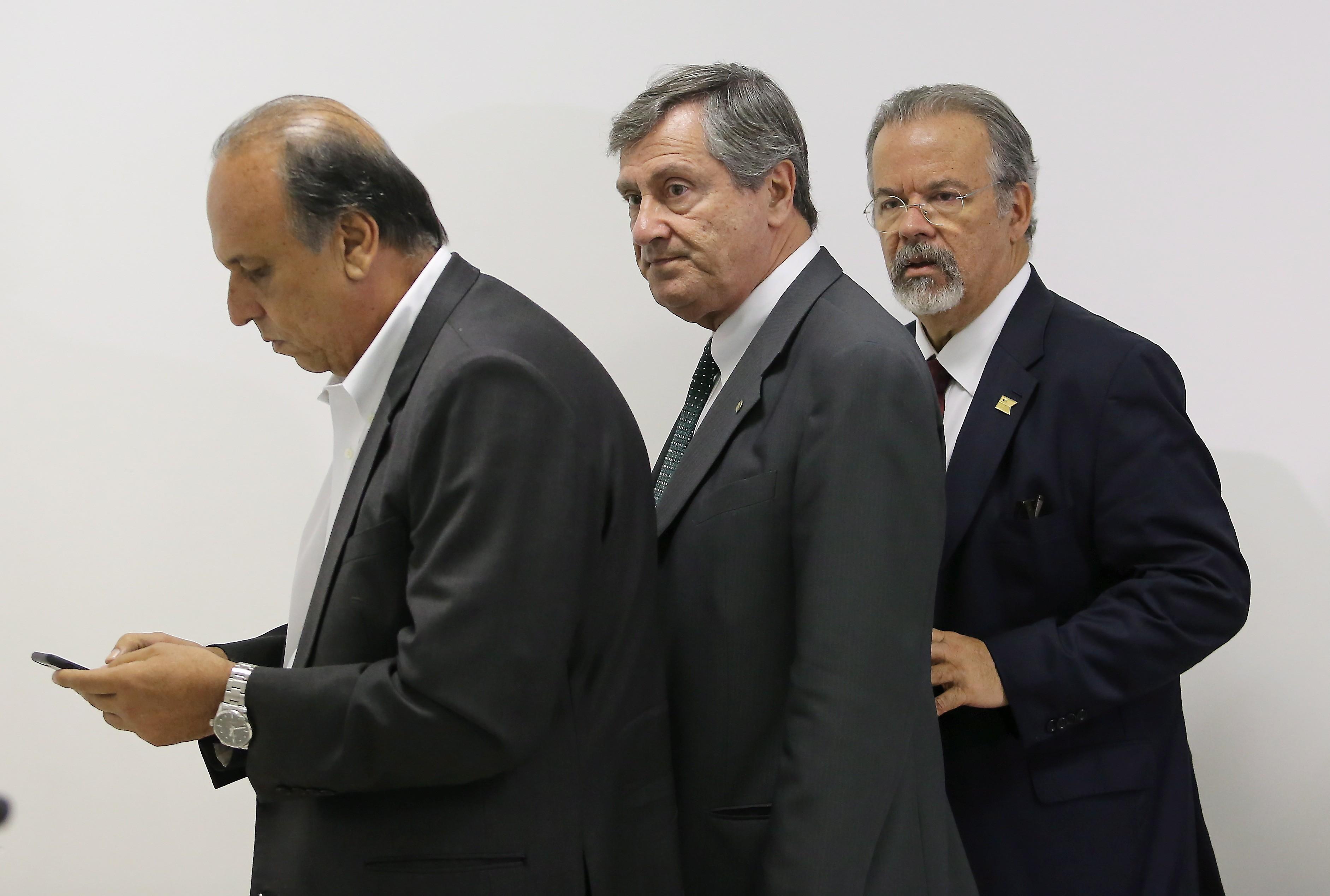 Pezão, Torquato Jardim e Raul Jungmann