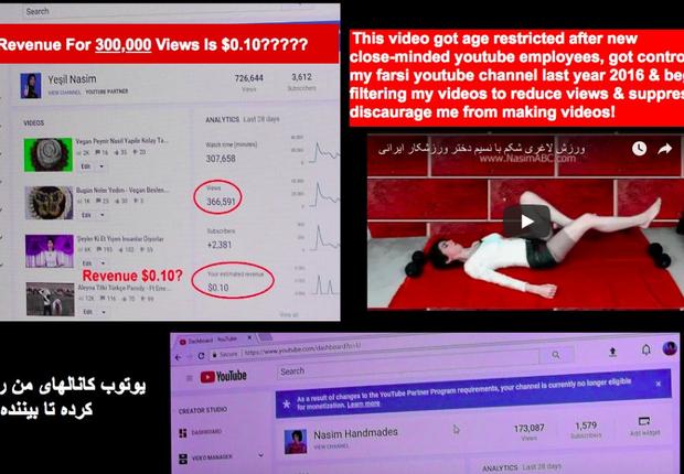 Atiradora reclamava na internet sobre ações do YouTube (Foto: Reprodução/Twitter)