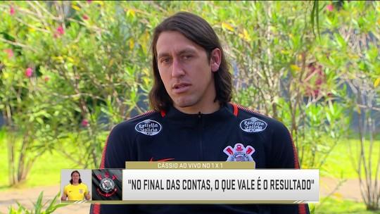 """Álcool, Copa, pênaltis e VAR: veja a entrevista de Cássio no """"1 x 1"""" com Cléber Machado"""