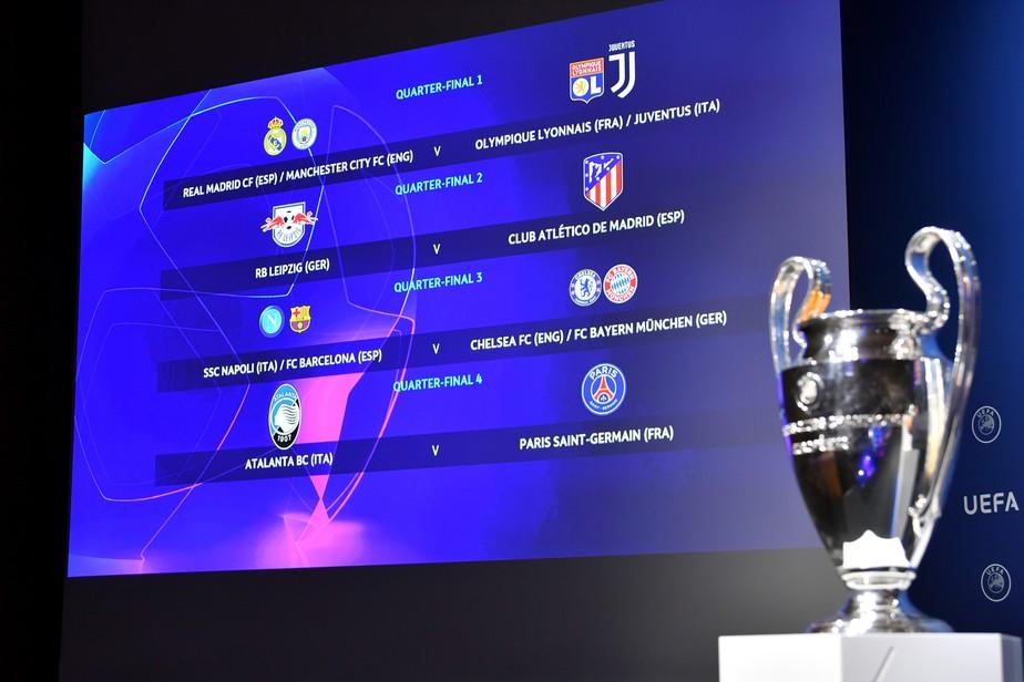PSG de Neymar encara a Atalanta nas quartas de final da Liga dos Campeões: veja os confrontos