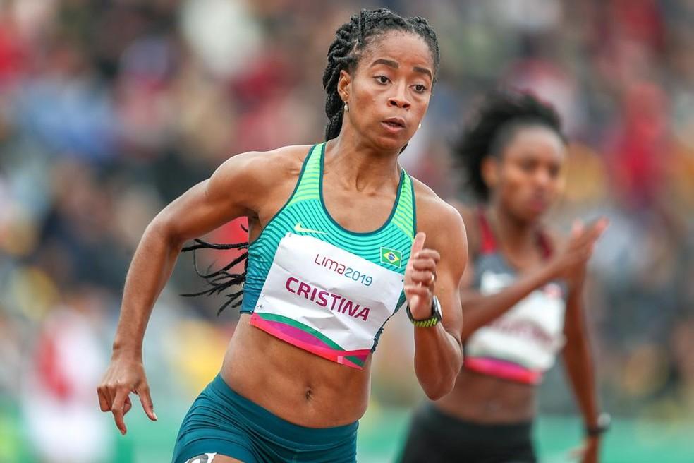 Vitória Rosa nos 200m no Pan de Lima — Foto: Wagner Carmo/Panamerica Press/CBAt
