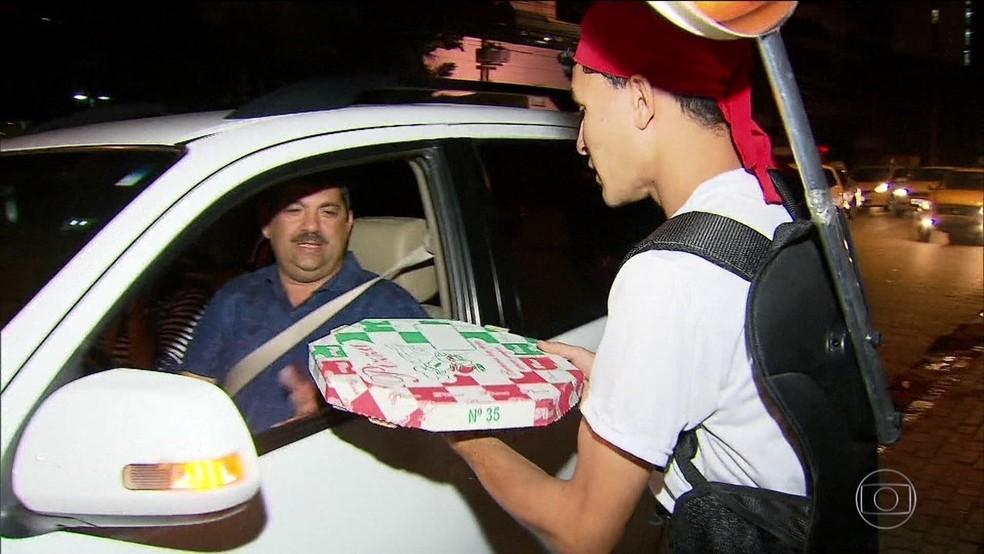 -  Sine Macapá oferece uma vaga para entregador de pizza  Foto: Reprodução/TV Globo