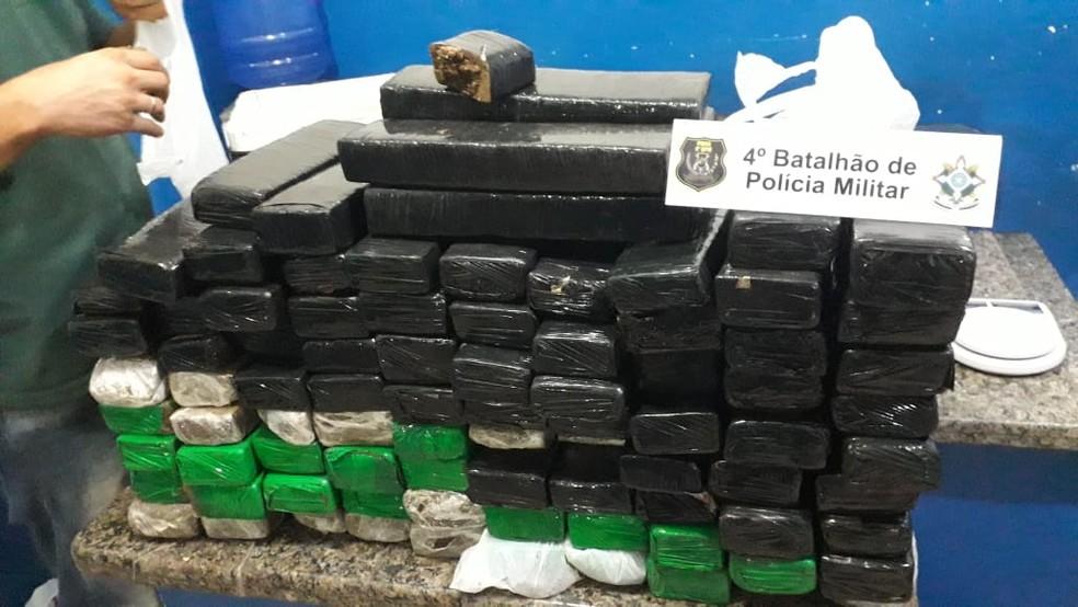 Droga apreendida foi levada à Polícia Civil de Cacoal — Foto: Divulgação