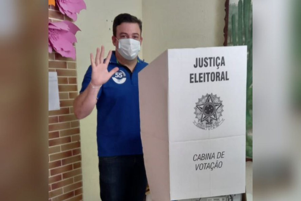 Matheus Góis (PSD) é eleito prefeito de Pedra Branca, no interior do Ceará. — Foto: Reprodução
