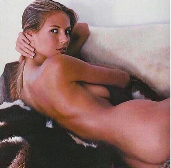 A modelo Heidi Klum em uma foto de um ensaio antigo recém-compartilhada por ela nas redes sociais (Foto: Instagram)