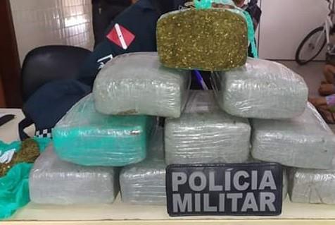 Idoso e casal são flagrados pela PM com 10kg de maconha em Bragança, no Pará