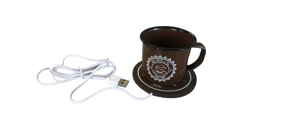Aquecedor de caneca USB confere calor de até 60 ºC para manter bebidas quentes por mais tempo — Foto: Reprodução/Shoptime