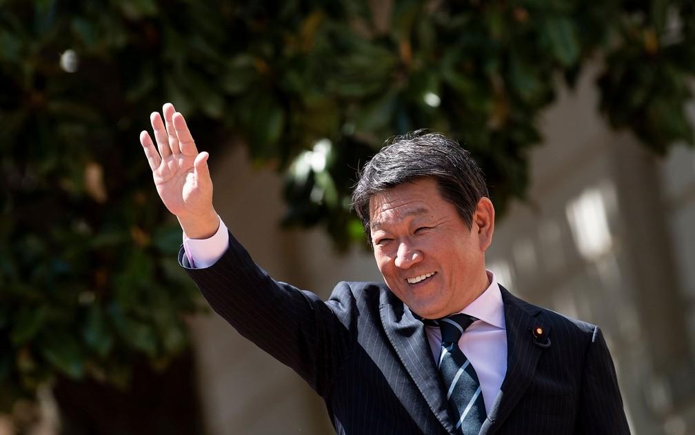 Toshimitsu Motegi é o novo chanceler no Japão — Foto: Brendan Smialowski / AFP Photo